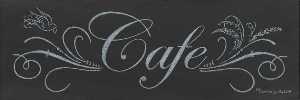 Cafe Chalkboard Babbitt, Gwendolyn 143204