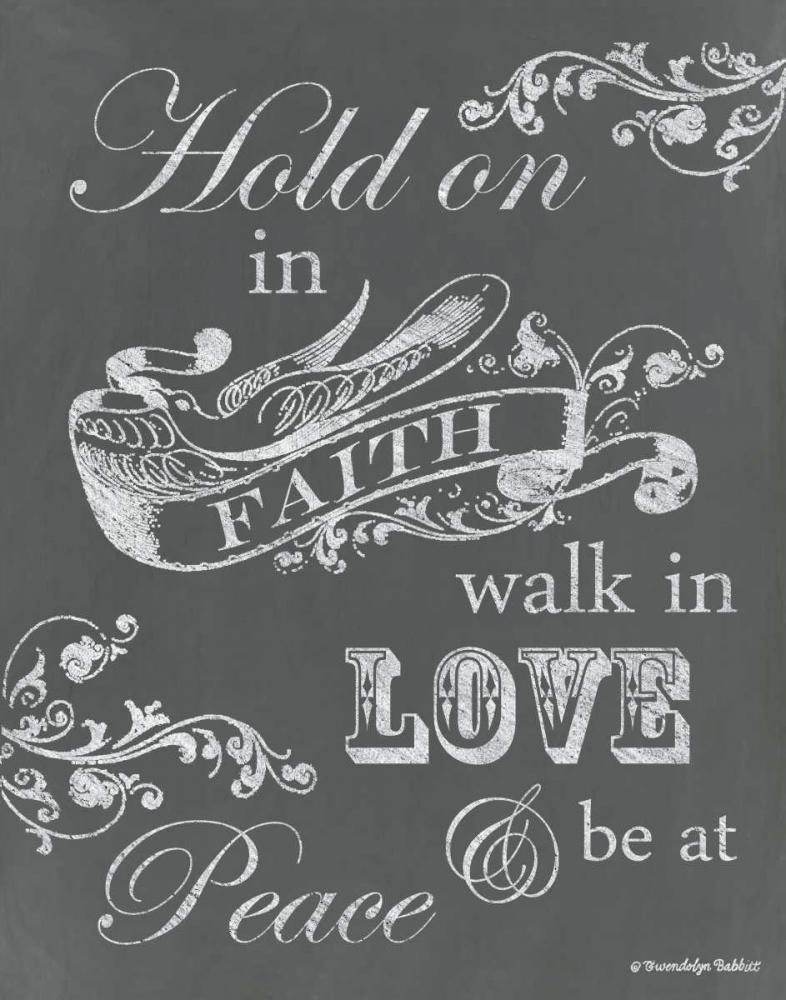 Hold on in Faith Babbitt, Gwendolyn 143366