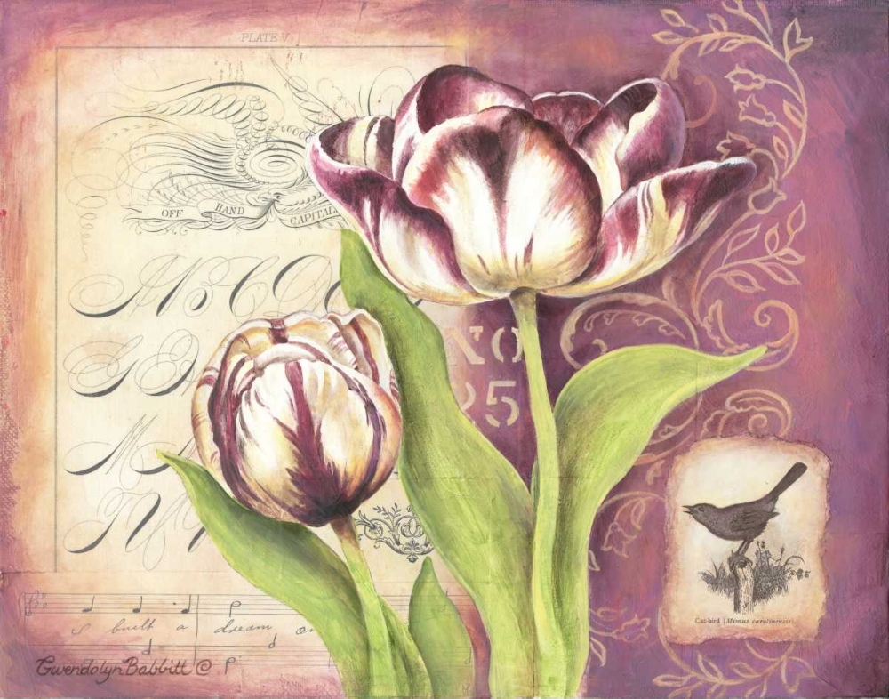 Tulip Collage I Babbitt, Gwendolyn 143388