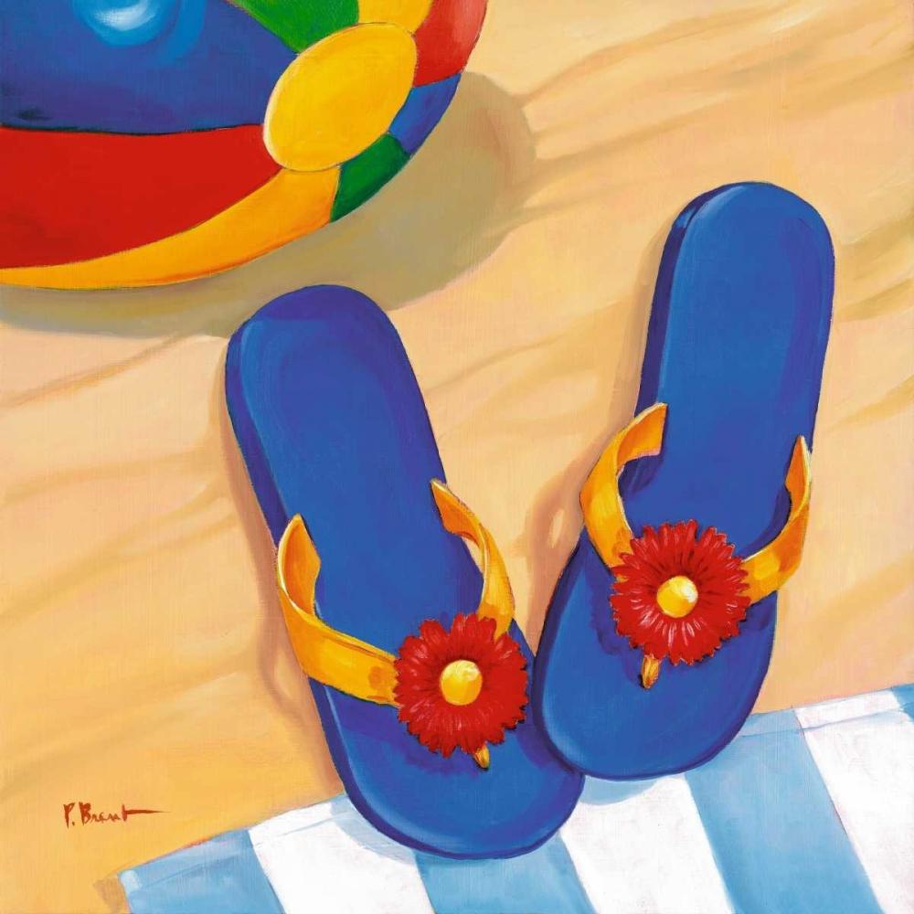 Blue Flip Flops Brent, Paul 4204