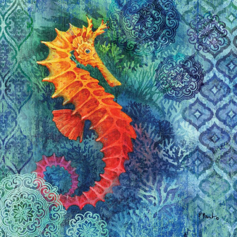 Seahorse Batik Sq Brent, Paul 143932
