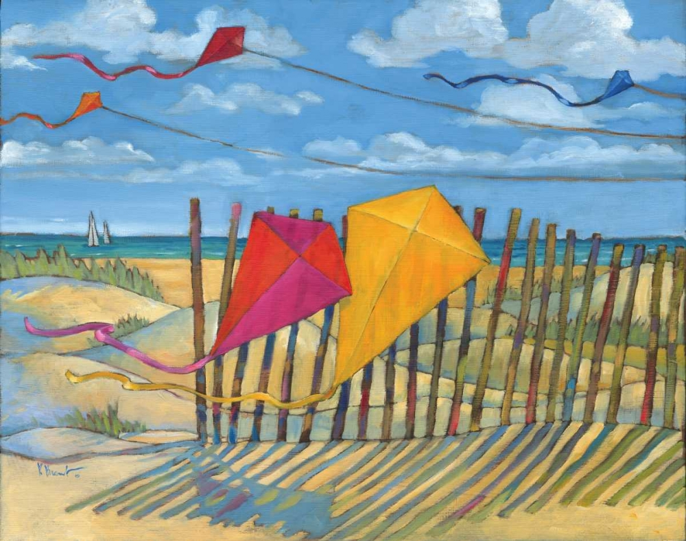 Beach Kites Yellow Brent, Paul 4389