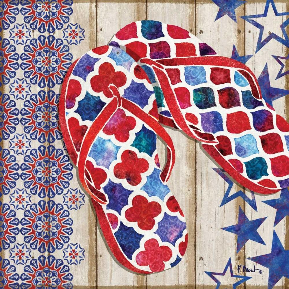 Patriotic Sarasota Sandals I Brent, Paul 143855