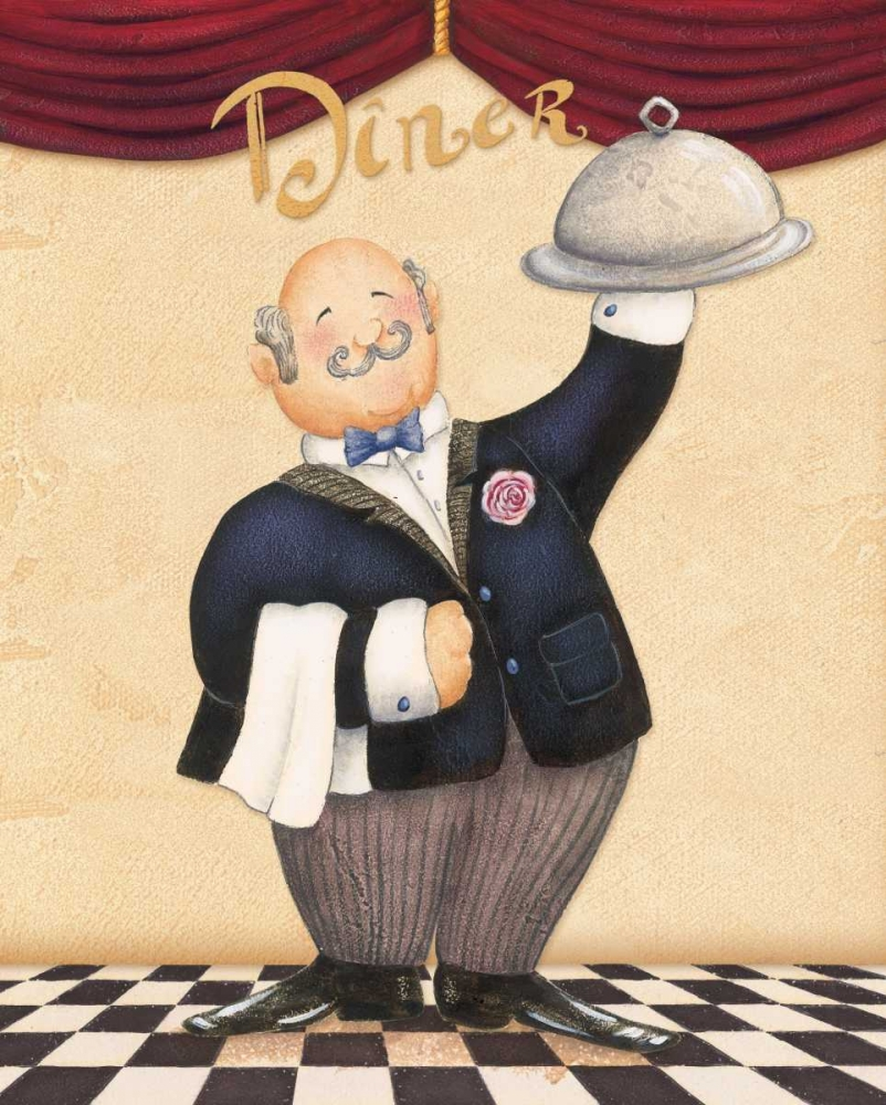 The Waiter - Diner Brissonnet, Daphne 4460