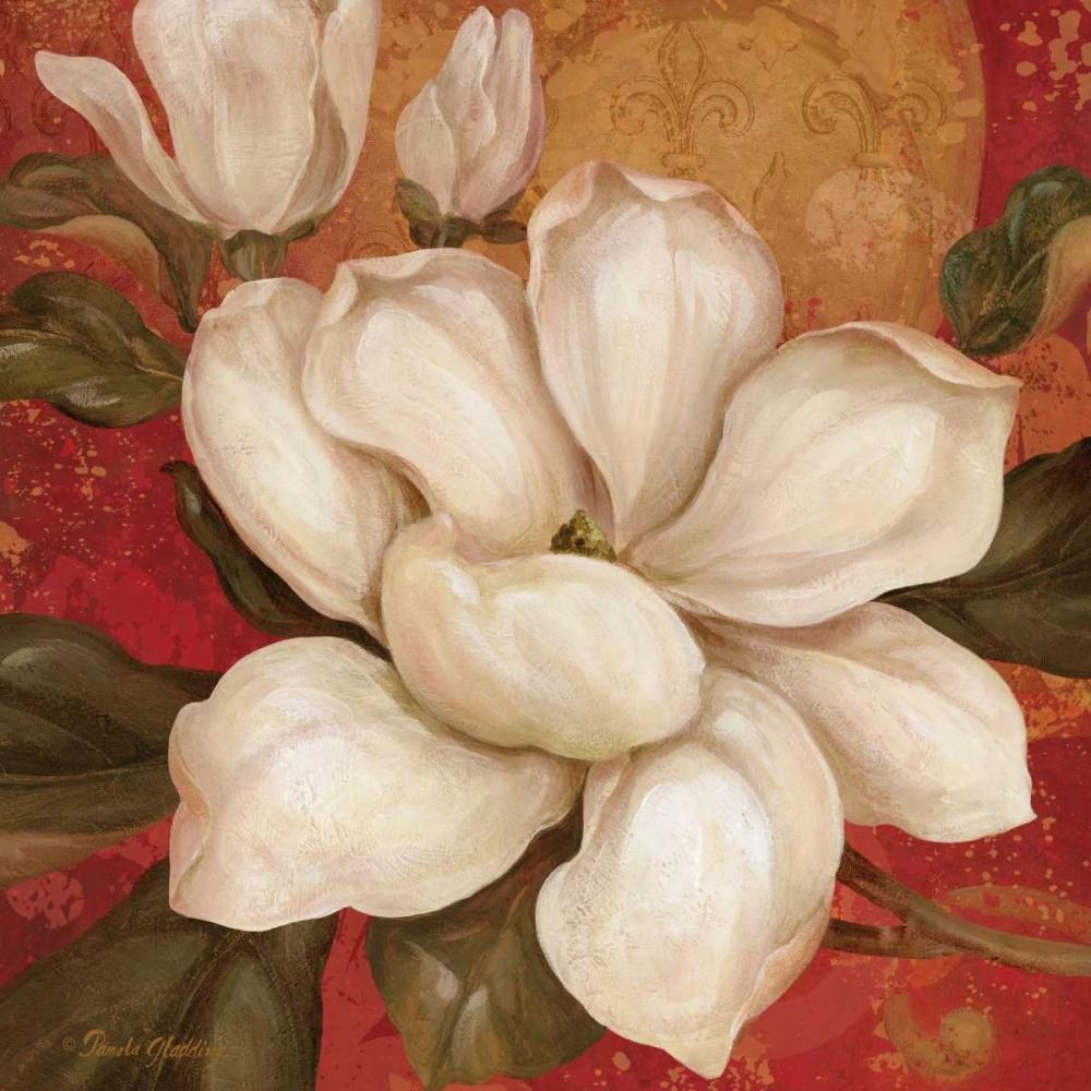 Magnolia on Red I Gladding, Pamela 4887