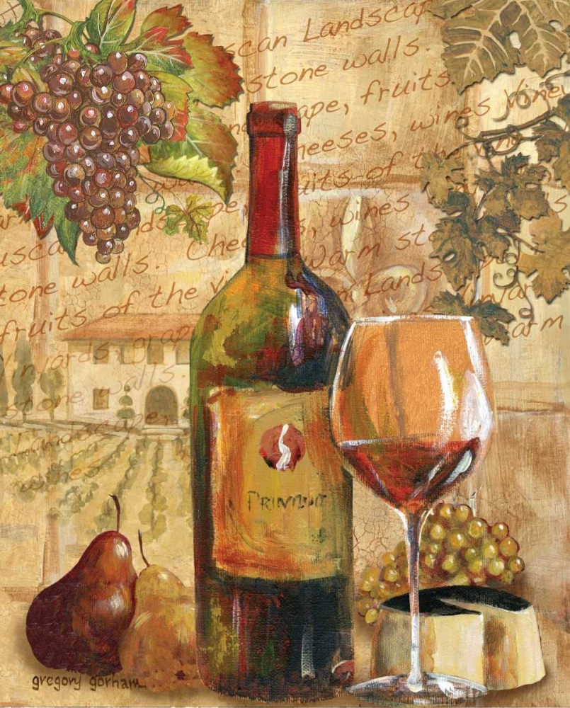 Wine Collage I Gorham, Gregory 5165