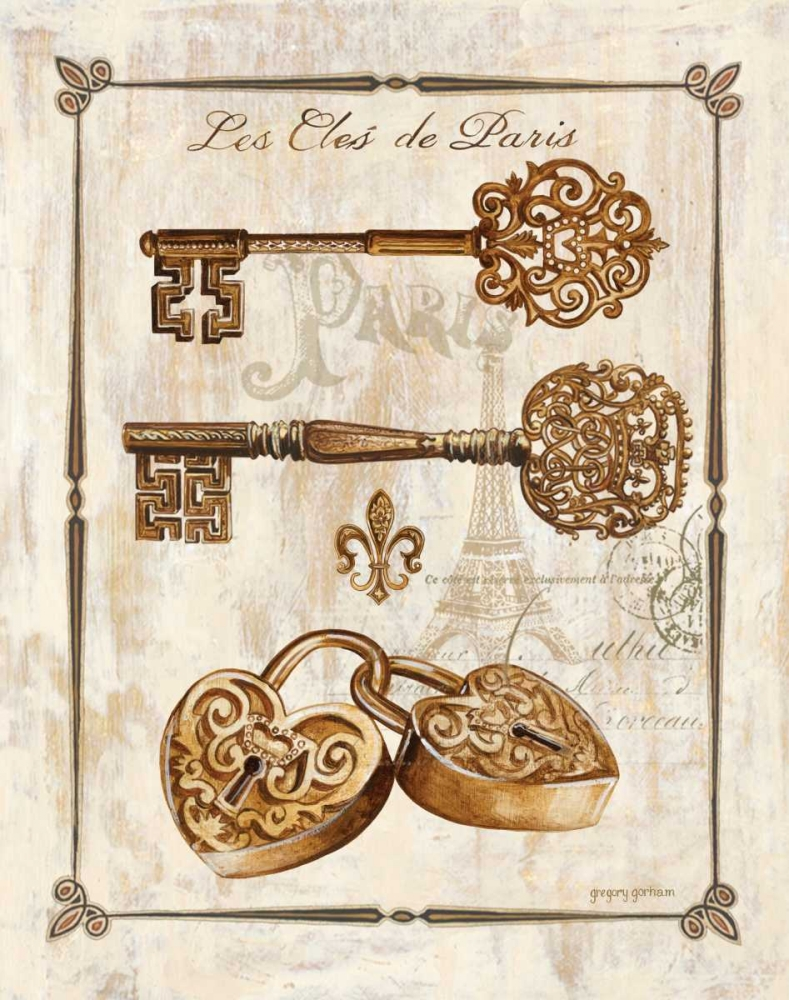 Keys to Paris I Gorham, Gregory 9373