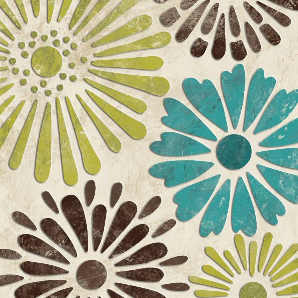 Stencil Flowers I Harbick, N 5309