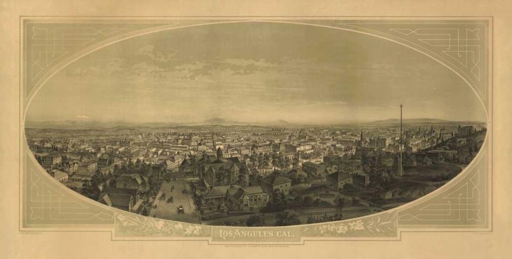 1888 Las Angeles Map Harbick, N. 144511