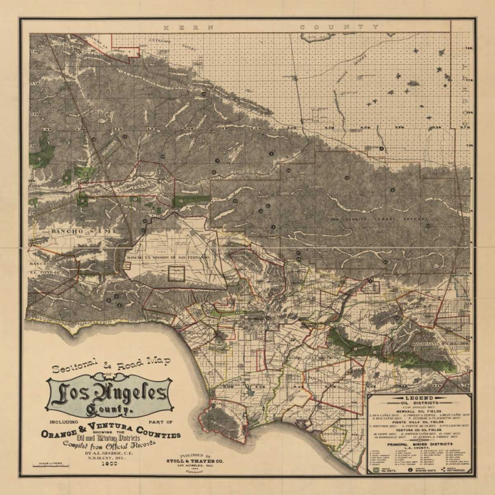 1900 LA Road Map Harbick, N. 144512