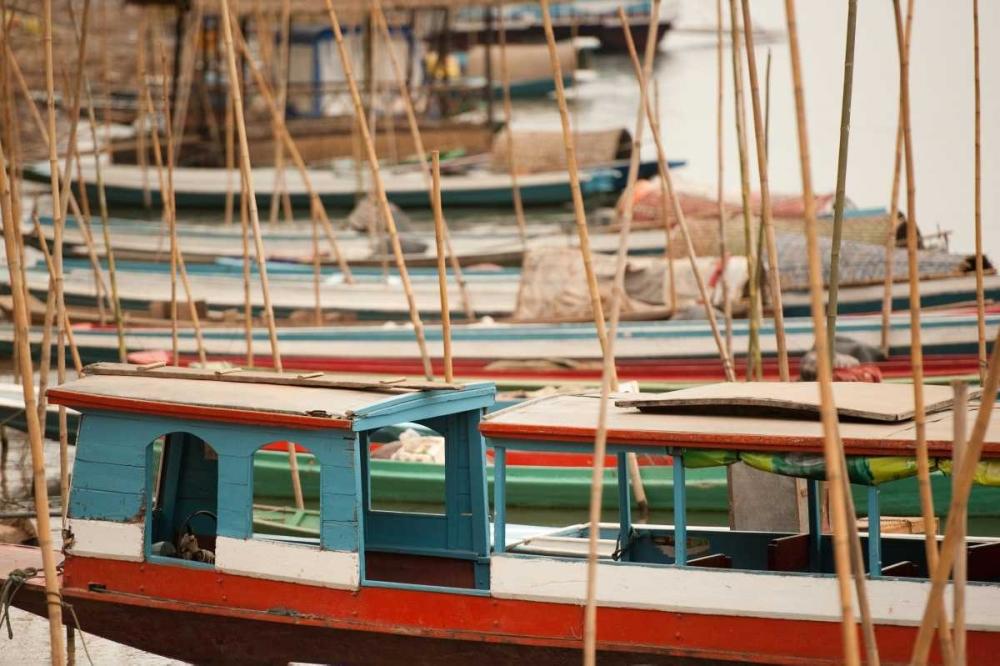 Laos Boats Berzel, Erin 14162