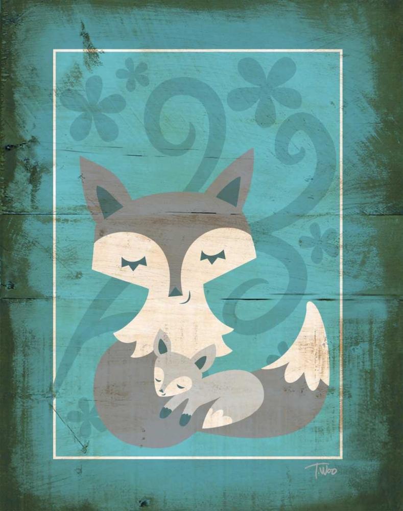 Rustic Woodland Foxes Woo, Teresa 147147