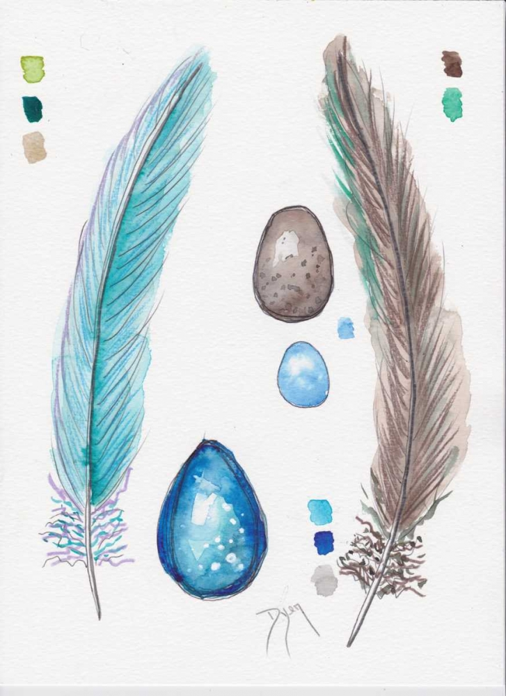 Feather and Egg Study 2 Dyer, Beverly 151713