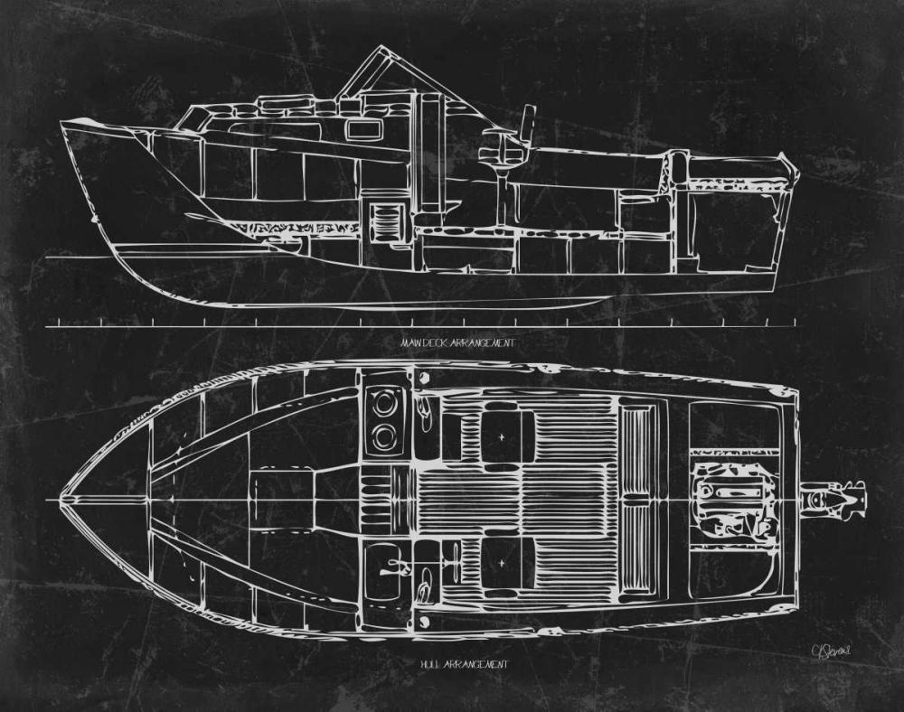 Boat Blueprint 2 blk Stevens, Carole 151760