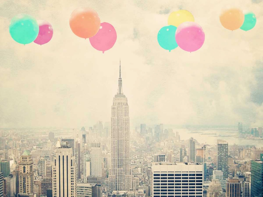 NYC Balloons With Clouds Davis Ashley 41077
