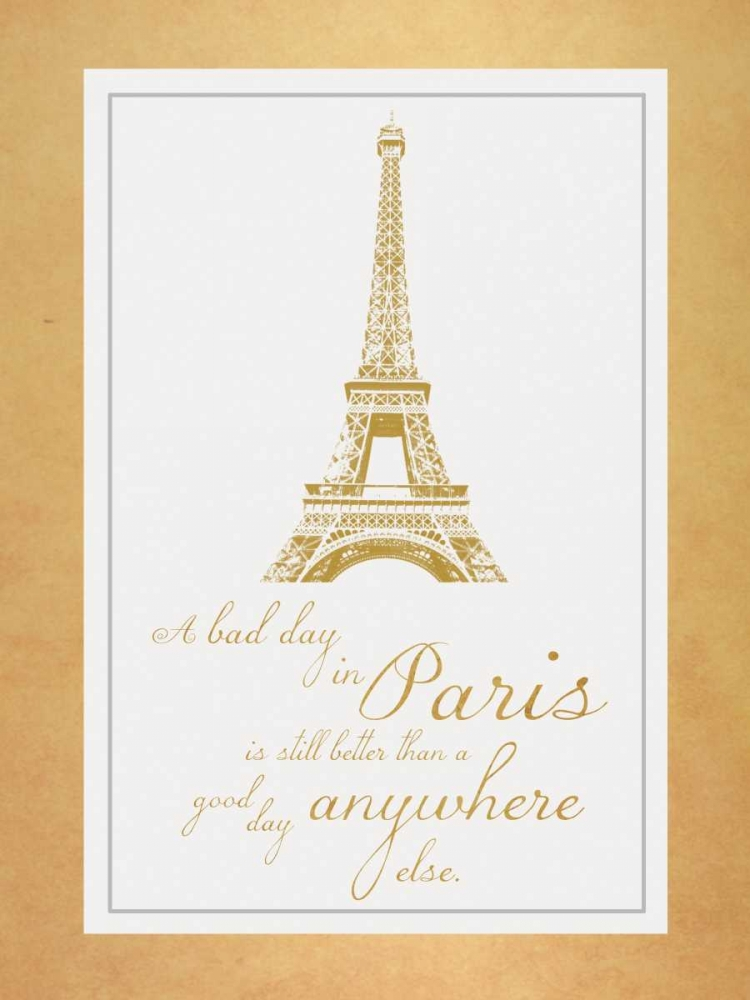 Paris Quote Gold Gibbons, Lauren 75850