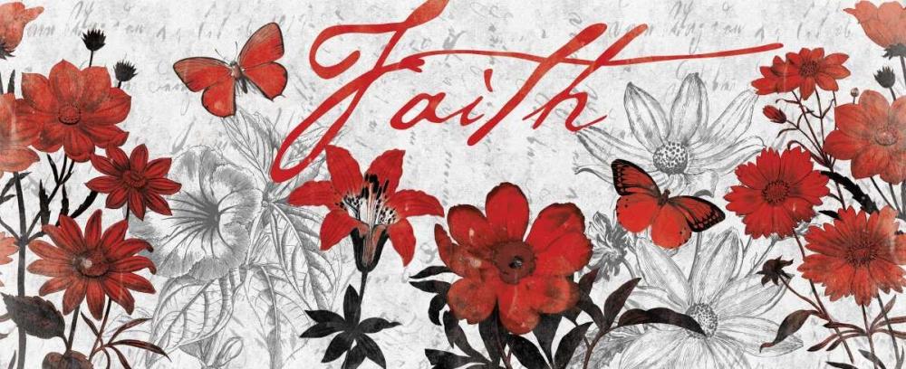 Floral Faith Red Grey, Jace 25591