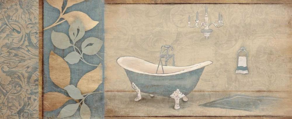 Blue bath floral pattern 2 Grey, Jace 25851