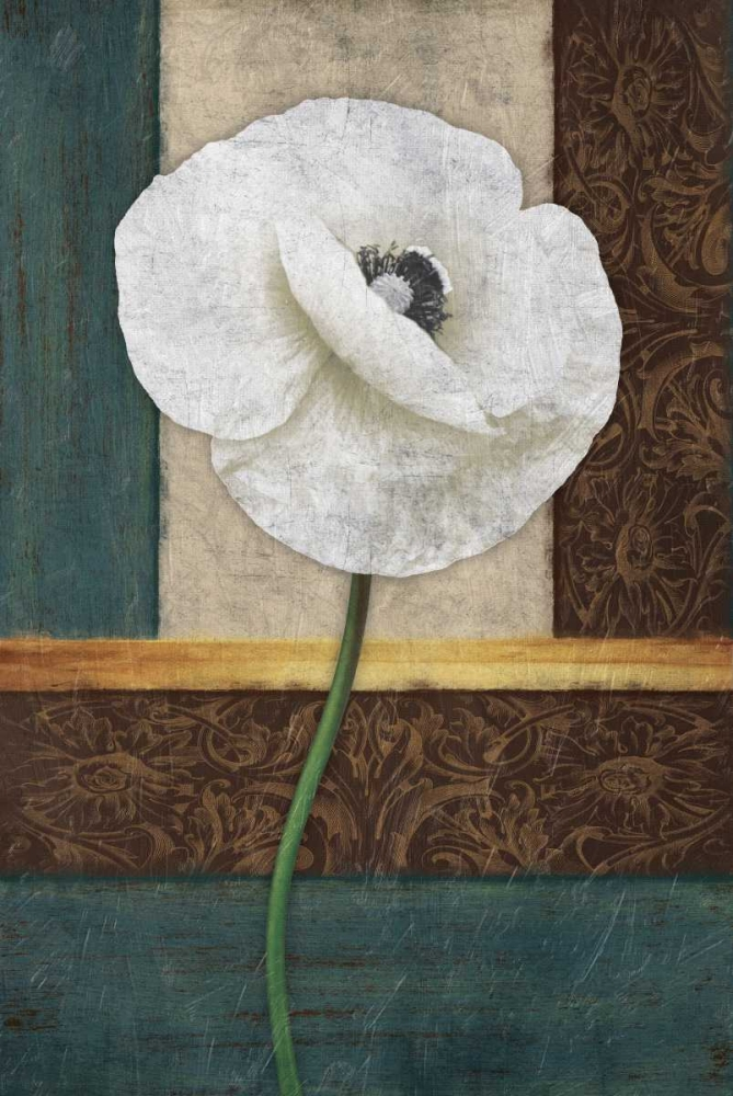White Floral Grey, Jace 26509