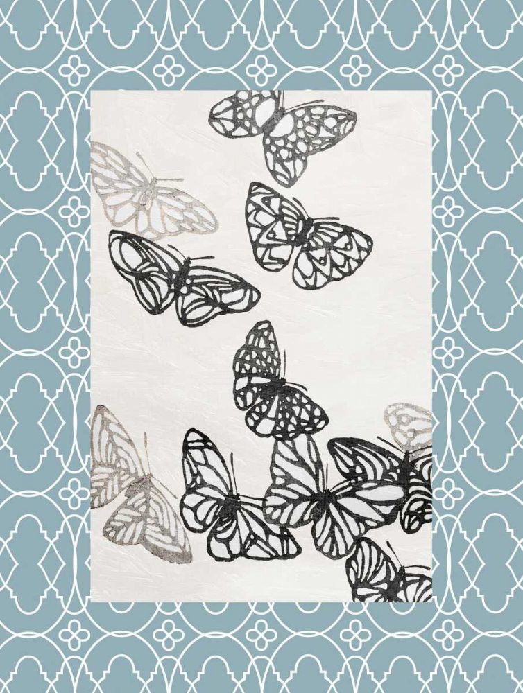 Butterfly border Grey, Jace 37442