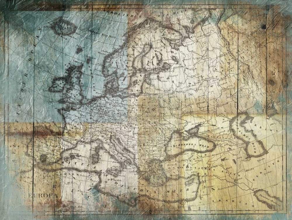 Rustic Map One Grey, Jace 106443