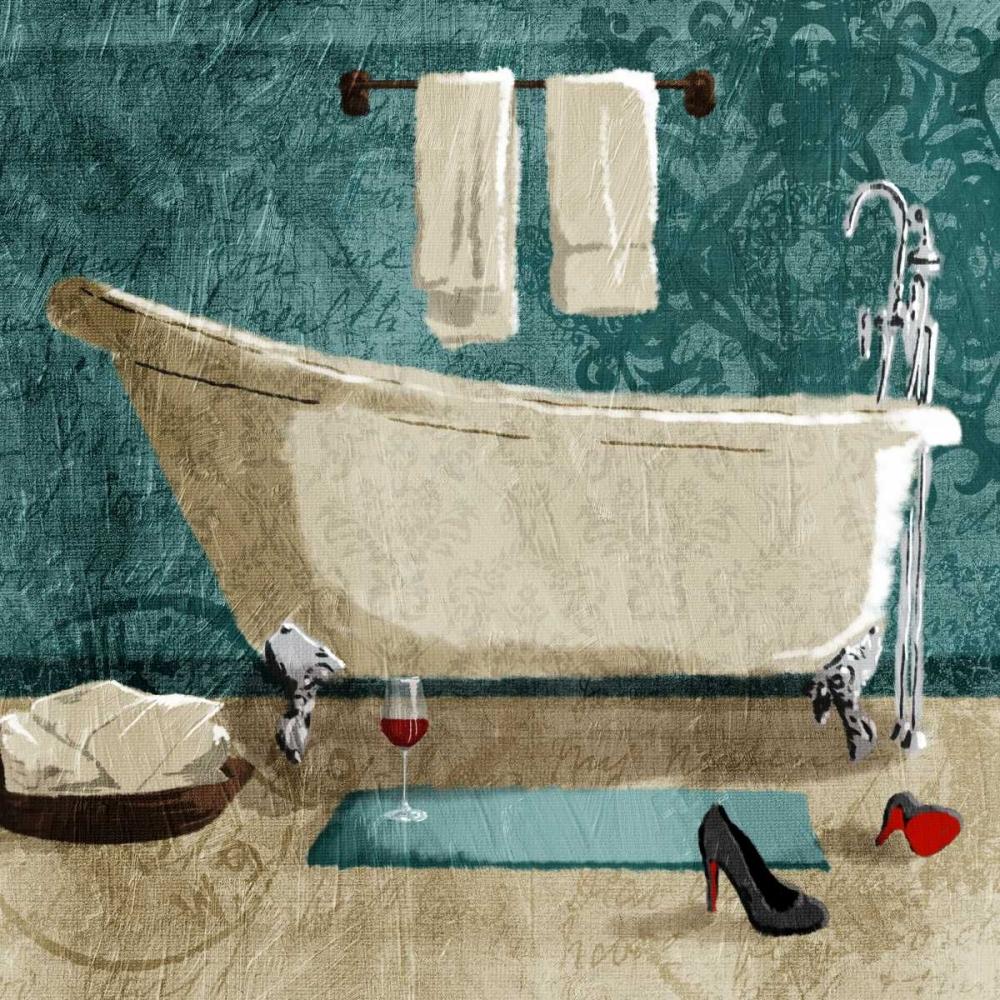 Teal Drink And Heals Bath Grey, Jace 161524