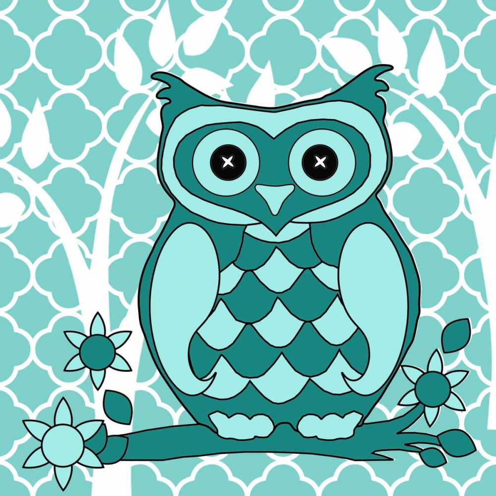 Teal Patterened Owl Allen, Kimberly 138245