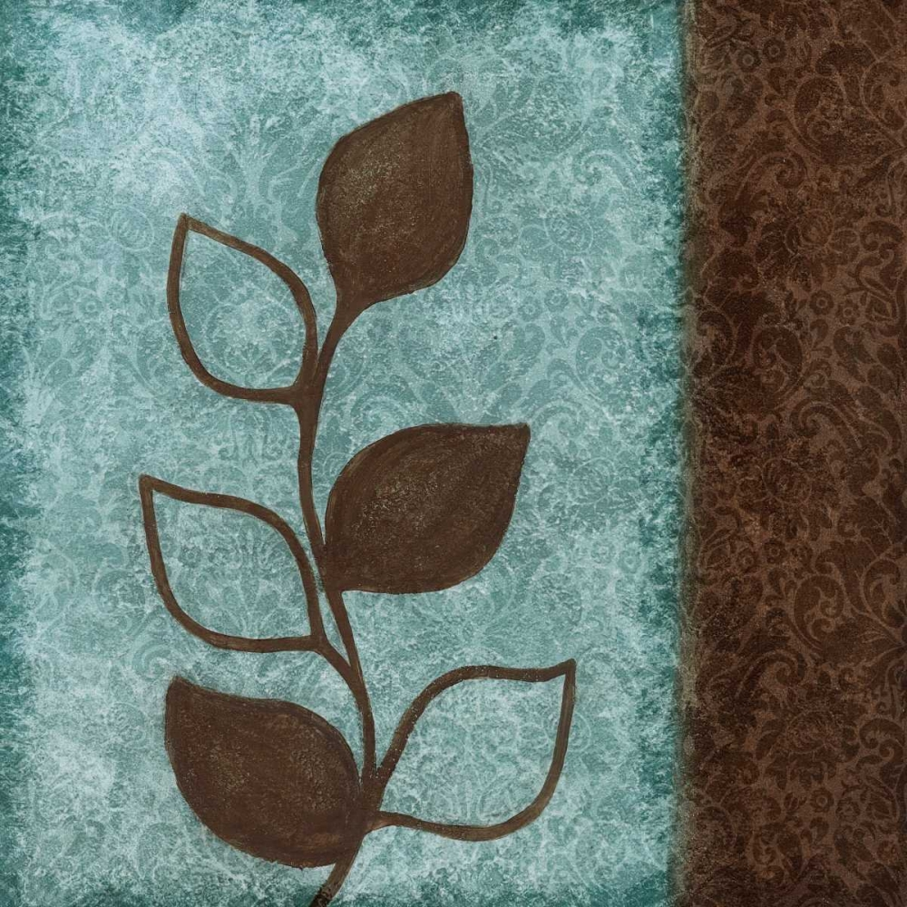 Brown Leaves Square - Right Emery, Kristin 7676
