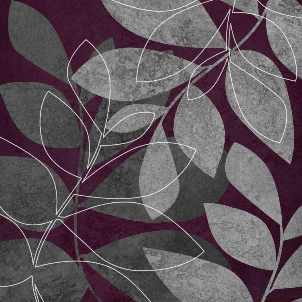 Gray and Purple Leaves II Emery, Kristin 7876