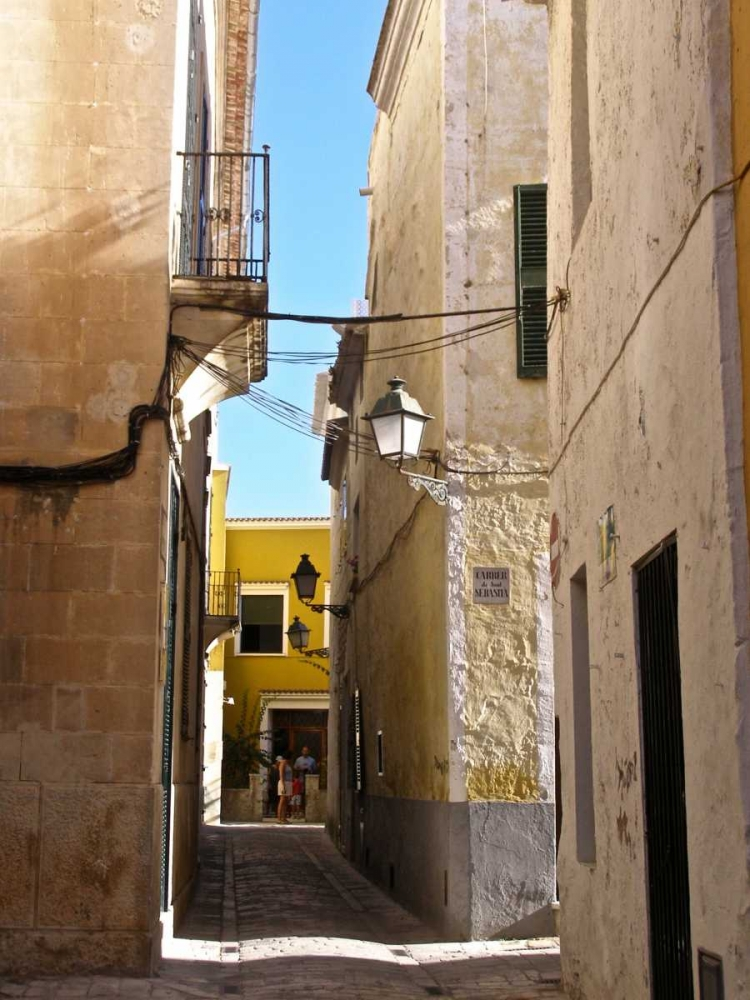 Menorca Street And Yellow Building May 125887