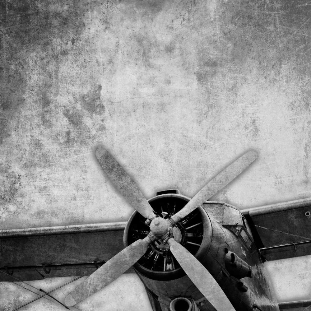 Vintage Plane Engine_82531 BW May 106749