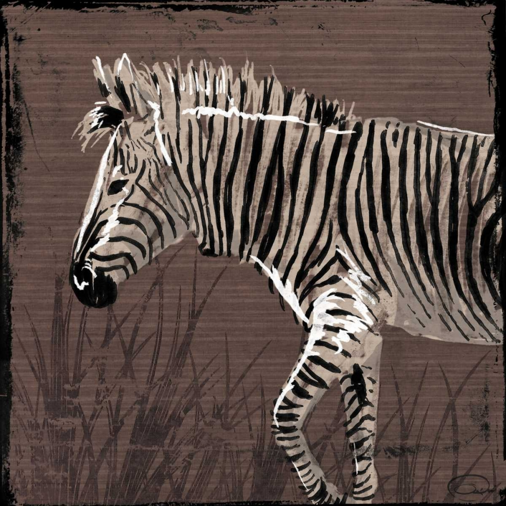 Zebra Walk Brown OnRei 32256