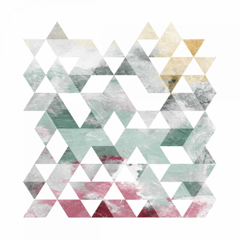 Rose Marble Triangles Mate OnRei 106792