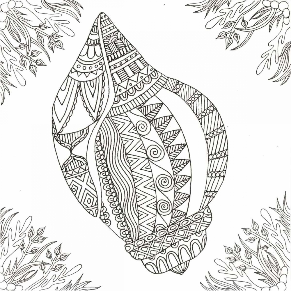Seashell Within Weeds Varacek, Pam 139136