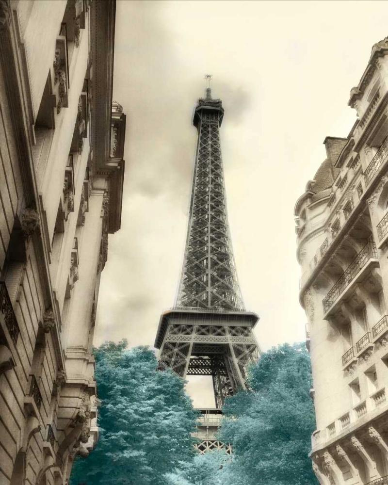 Teal Eiffel Tower 1 Poinski, Dianne 162279