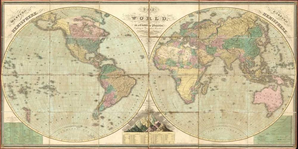 Tattered World Map Carlson, Tina 106986