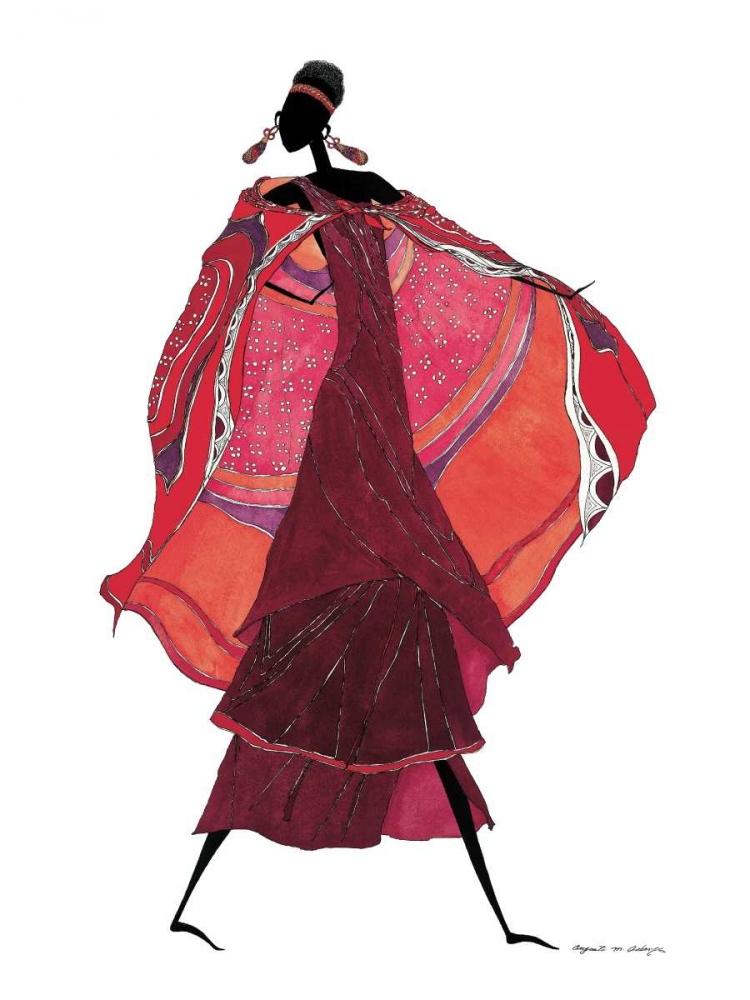Samburu in Beaded Earrings Asberry, Augusta 12578