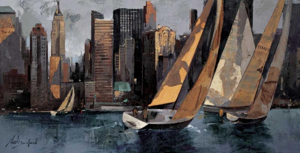 Sailboats in Manhattan I Bofarull, Marti 12633