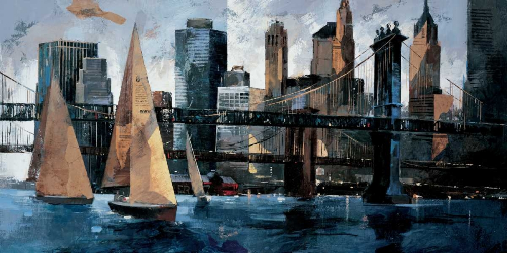 Sailboats in Manhattan II Bofarull, Marti 12634