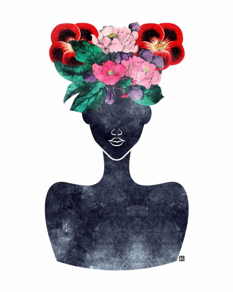 Flower Crown Silhouette II Brown, Tabitha 74590