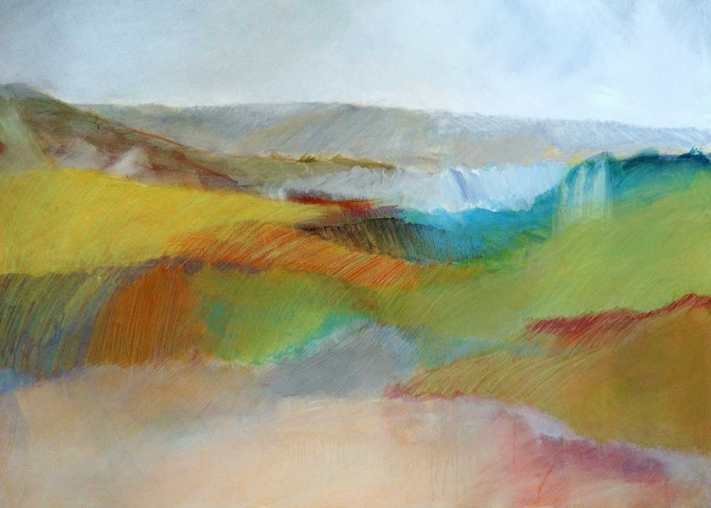 Green, Yellow and Rose Landscape Engeln, Skadi 88261