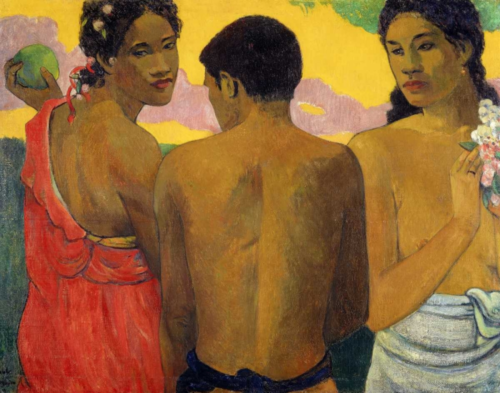 Three Tahitians Gaugin, Paul 139836