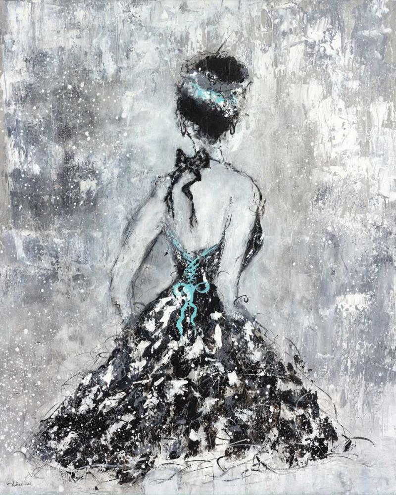 Elegant Booba with Blue Sash Kadmiri, Aziz 65477