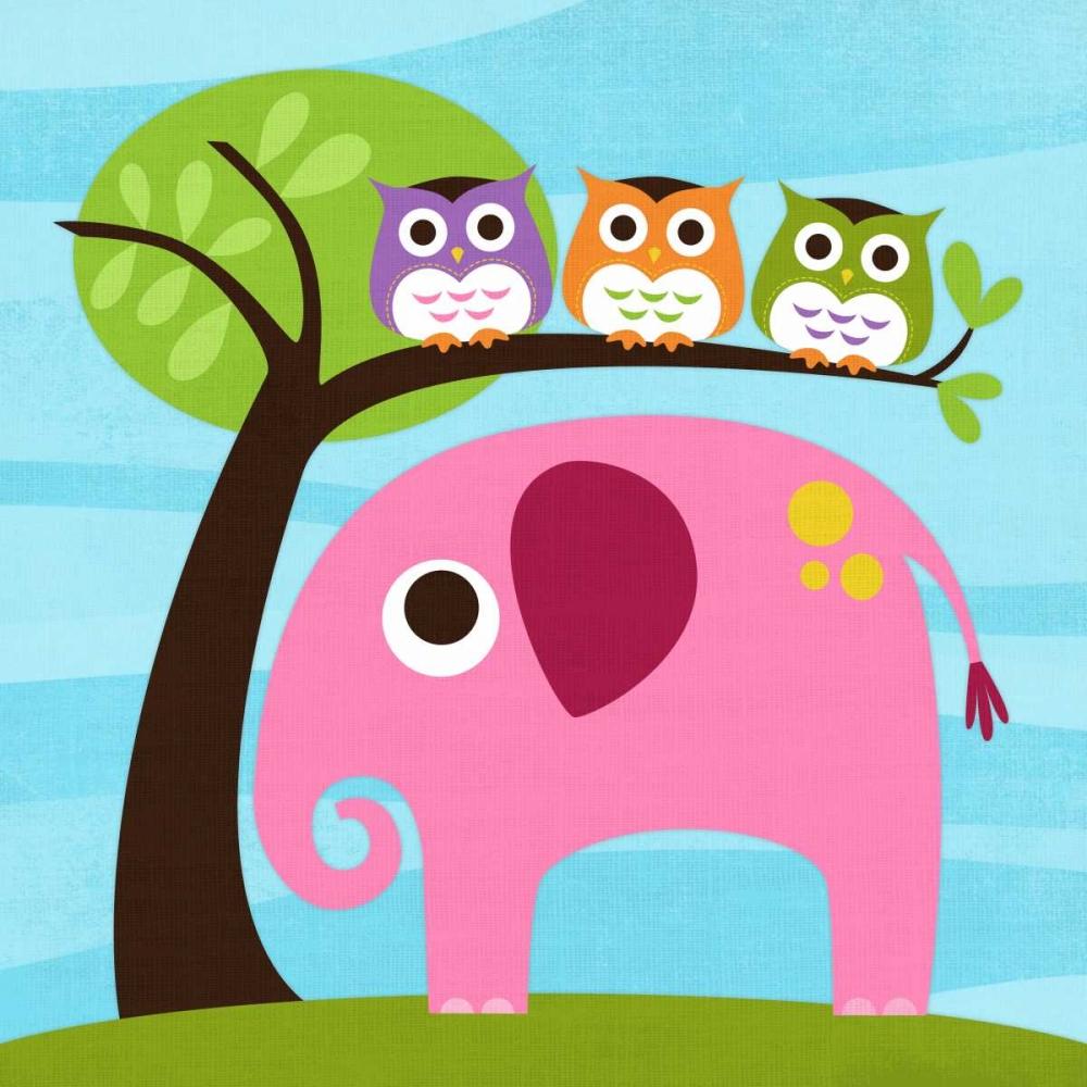 Elephant with Three Owls Lee, Nancy 14967