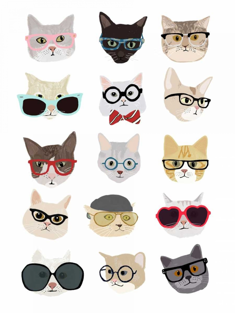 Cats with Glasses Melin, Hanna 65502