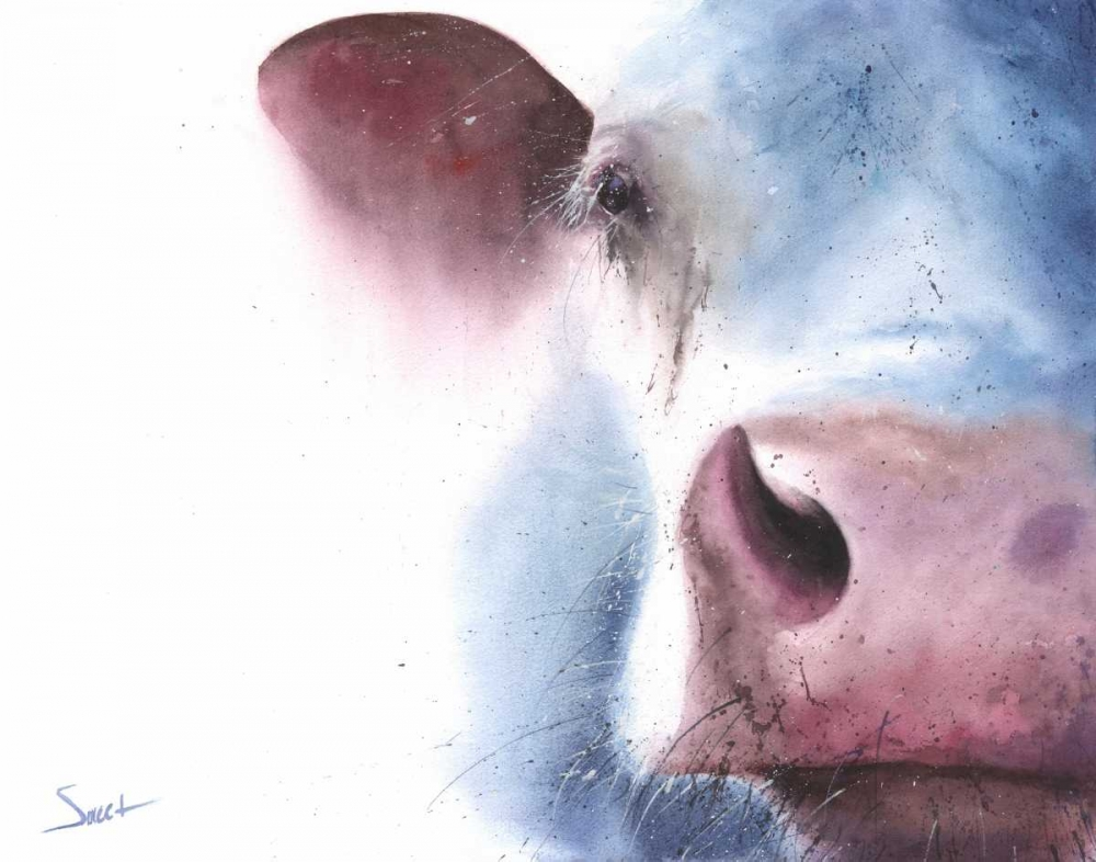 Watercolor Cow Sweet, Eric 149765