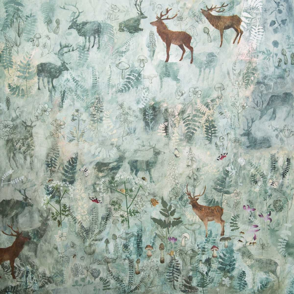 Stags in Mist Stacey, Dawn 151370