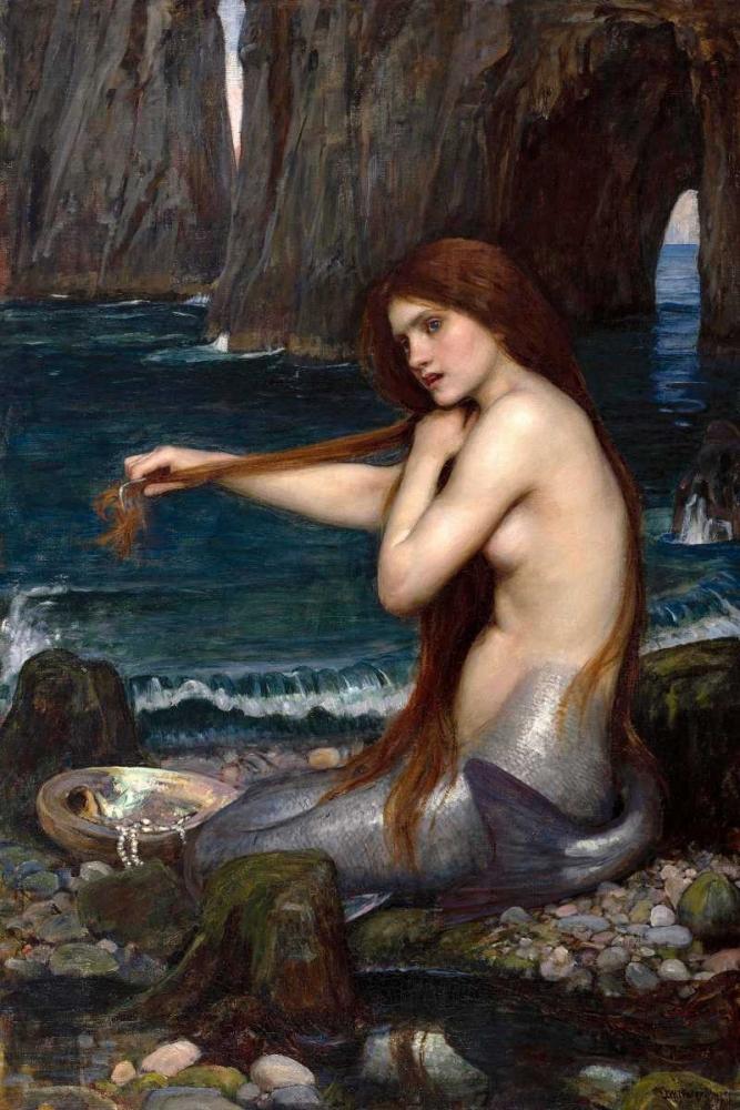 A Mermaid Waterhouse, John William 119609