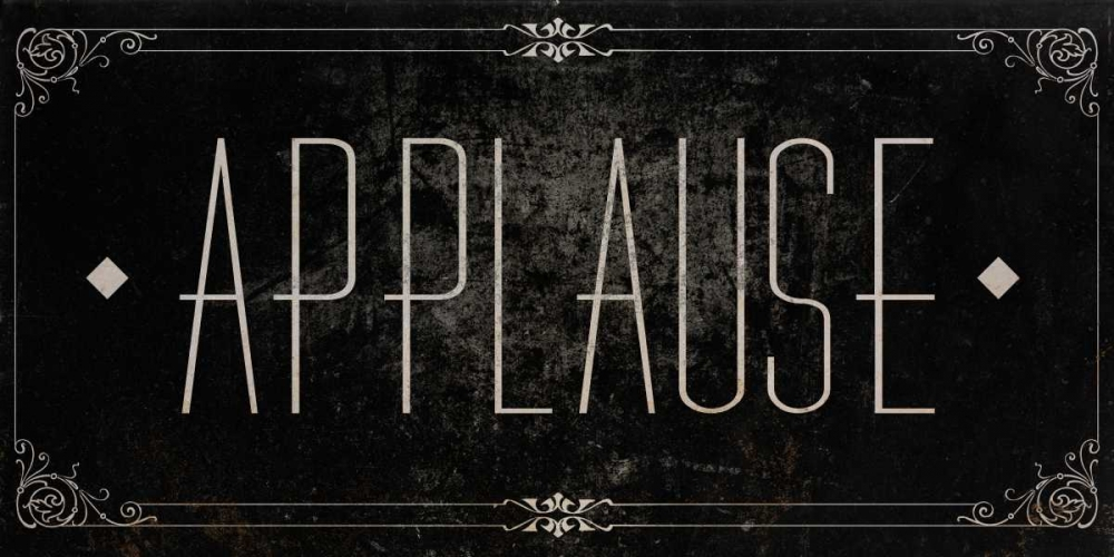 Silent Film Type I (Applause) SD Graphics Studio 73990