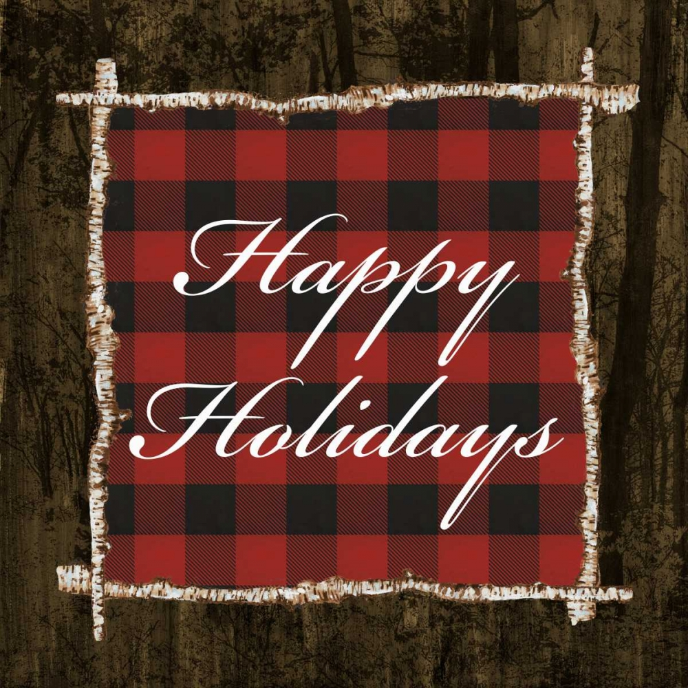 Happy Holidays On Plaid Ritter, Gina 122243